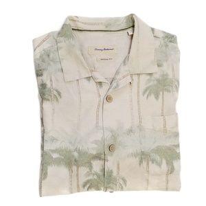 Tommy Bahama silk palm tree shirt Large